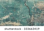 Sea Green Broken Cracked Brick...