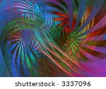 swirling colours   or colors | Shutterstock . vector #3337096
