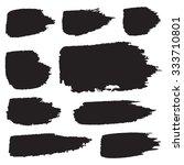 grunge shapes  set  black... | Shutterstock .eps vector #333710801