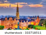 view of brussels city center  ... | Shutterstock . vector #333718511