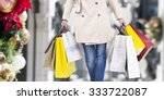woman walking with shopping... | Shutterstock . vector #333722087