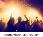 a crowd of people at a concert... | Shutterstock . vector #333722789