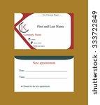 business card with k letter logo   Shutterstock .eps vector #333722849