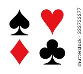 set of vector playing card... | Shutterstock .eps vector #333723377