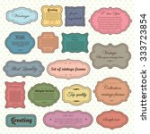 vector set of  vintage frames ... | Shutterstock .eps vector #333723854