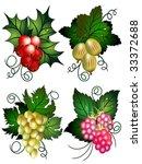 set of berries | Shutterstock .eps vector #33372688