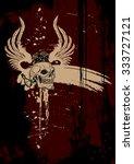 skull banner   Shutterstock .eps vector #333727121