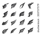 wings icons vector set | Shutterstock .eps vector #333737579