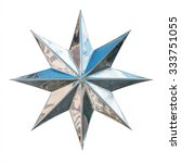 silver eight pointed star... | Shutterstock . vector #333751055
