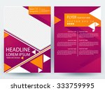 abstract vector modern flyers... | Shutterstock .eps vector #333759995
