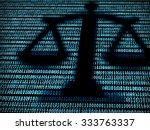 balance in digital background.... | Shutterstock . vector #333763337