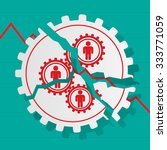 red figures of people in gears...   Shutterstock .eps vector #333771059