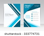 vector design for cover report... | Shutterstock .eps vector #333774731