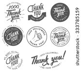 set of vintage thank you badges ... | Shutterstock .eps vector #333785159