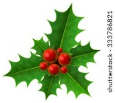 Christmas Holly Berry Isolated...