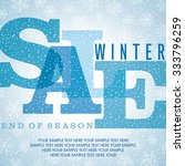 winter sale poster design... | Shutterstock .eps vector #333796259