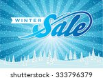 winter sale poster design... | Shutterstock .eps vector #333796379
