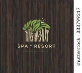 logotype for spa resort or... | Shutterstock .eps vector #333799217