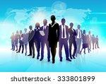 Business People Team Crowd Wal...