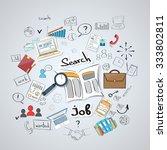 business searching job... | Shutterstock .eps vector #333802811