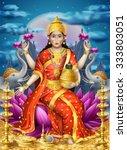illustration with lakshmi the... | Shutterstock .eps vector #333803051
