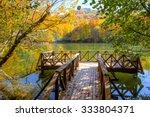 Stock photo autumn landscape in seven lakes yedigoller park bolu turkey 333804371