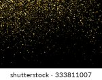 gold glitter texture on a black ... | Shutterstock .eps vector #333811007