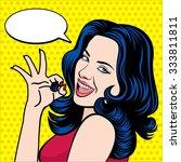 vintage pop art vector... | Shutterstock .eps vector #333811811