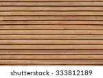 Wall Made Of Brown Wooden Slat...