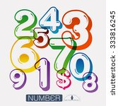 numbers set vector illustration | Shutterstock .eps vector #333816245