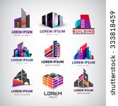 vector set of colorful  modern... | Shutterstock .eps vector #333818459