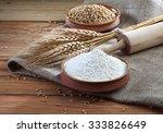 wheat flour  wheat  roller | Shutterstock . vector #333826649
