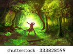 Man In Celtic Forest With Tin...