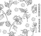 vector seamless pattern with... | Shutterstock .eps vector #333830315
