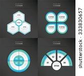 template design 4 item   blue... | Shutterstock .eps vector #333830657