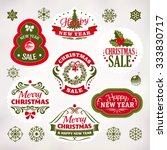 collection of christmas and new ... | Shutterstock .eps vector #333830717