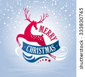 christmas greeting card with... | Shutterstock .eps vector #333830765