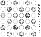 retro black and white pattern... | Shutterstock . vector #333836051