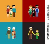 flat set of family life. vector ... | Shutterstock .eps vector #333839261