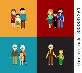 flat set of family life. vector ...   Shutterstock .eps vector #333839261