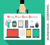 byod concept with human hand... | Shutterstock .eps vector #333854441