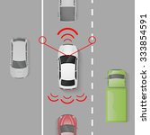 car safety system with top view ...   Shutterstock .eps vector #333854591