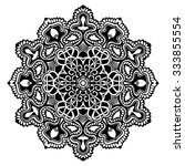 black and white decorative... | Shutterstock .eps vector #333855554