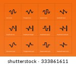 sine  sawtooth and triangle... | Shutterstock .eps vector #333861611