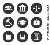set of black law and justice... | Shutterstock .eps vector #333864665