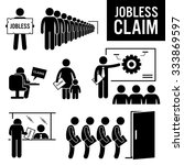 jobless claims unemployment... | Shutterstock . vector #333869597