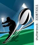 vector illustration of rugby... | Shutterstock .eps vector #333873311