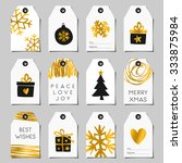 A Set Of Christmas Gift Tags In ...