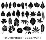 silhouette leaves vector set ... | Shutterstock .eps vector #333879347