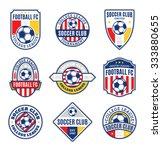 set of soccer football club... | Shutterstock .eps vector #333880655